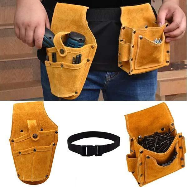Multi-function Drill Nails Waist Tool Storage Pouch Bag