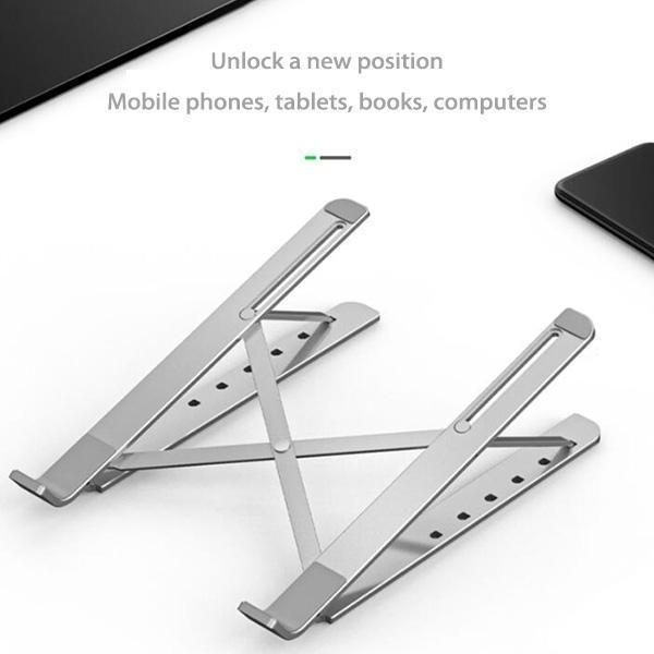 Foldable Laptop Stand silver