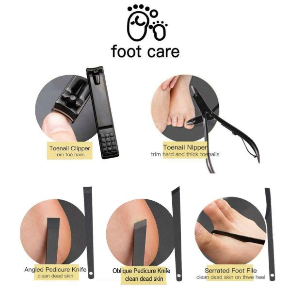 Manicure Pedicure Nail Care Set Cutter Cuticle Clippers Kit / Gift Case
