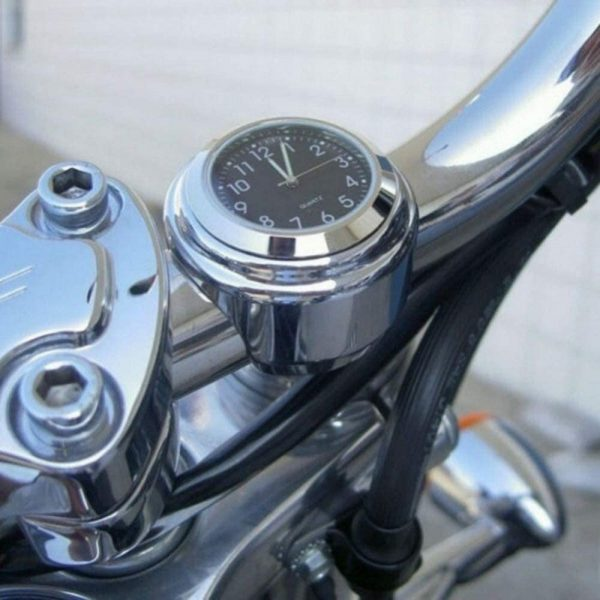 Motorcycle Handlebar Mount Thermometer / Clock