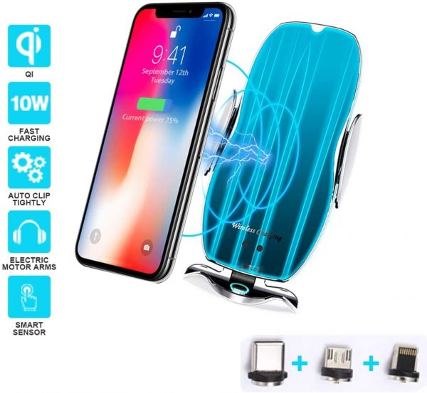 Magic Clip Automatic Gravity Induction Wireless Charger Mobile Phone Holder