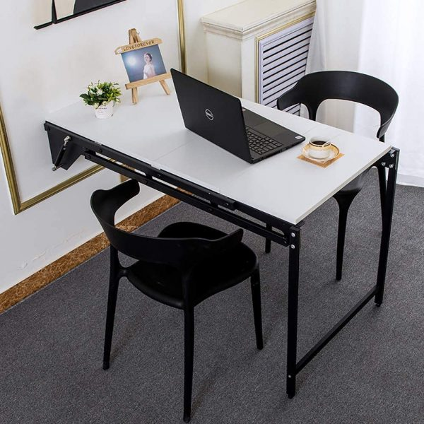 Wall-Mounted Convertible Shelf And Table