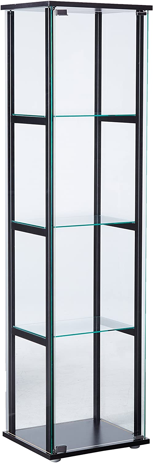 Curio Cabinet Black Display Case