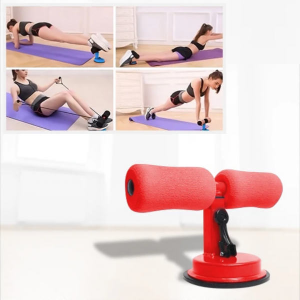 FitPro™ Floor Suction Workout Bar red