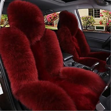 Fluffy Car Seat Cover Red