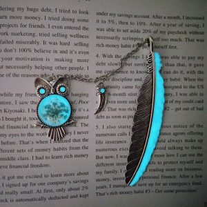 Handmade Glowing Bookmark Owl Silver
