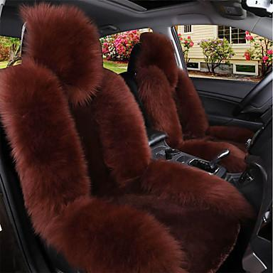 Fluffy Car Seat Cover Brown