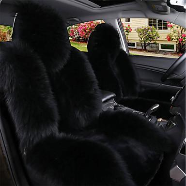 Fluffy Car Seat Cover Black