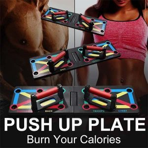 12-in-1 Workout Power Press Push-up Stands Body Building Exercise Training System