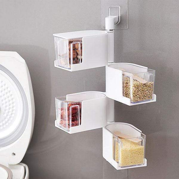 360-Degree Rotating Seasoning Storage Box