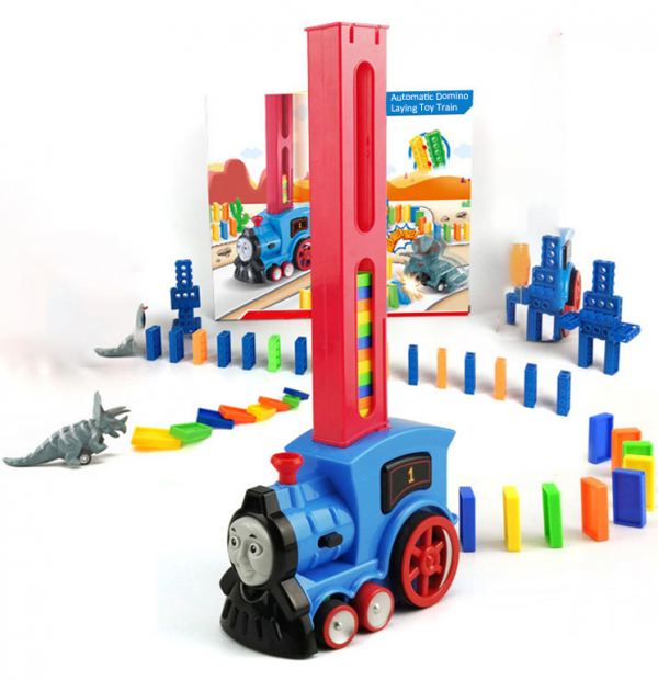 Domino Laying Toy Train