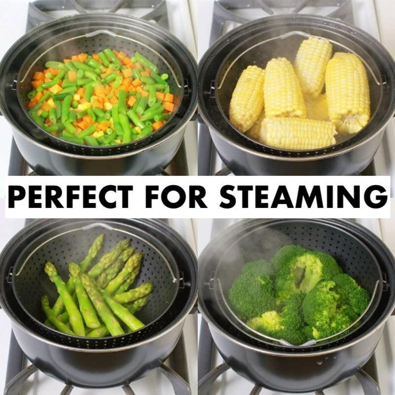 2 in 1 Cooking Pot with Built-in Strainer
