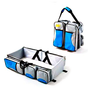 3-in-1 Diaper Bag, Portable Bassinet and Travel Changing Station