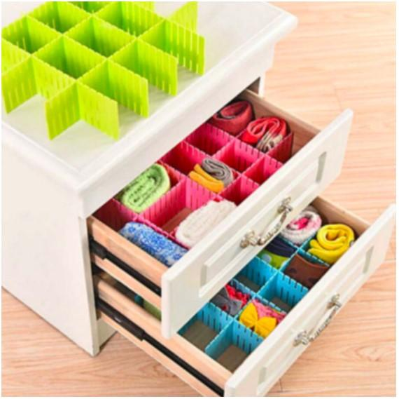 Adjustable Grid Drawer Dividers Pack (4pcs.)