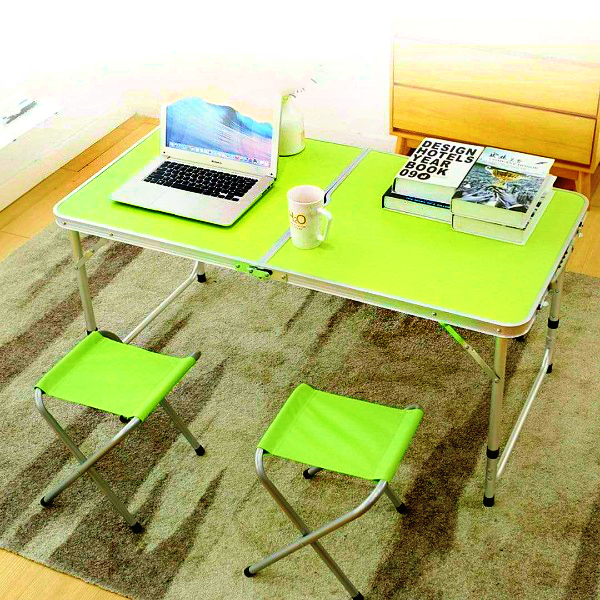 Adjustable Folding Table With Seats