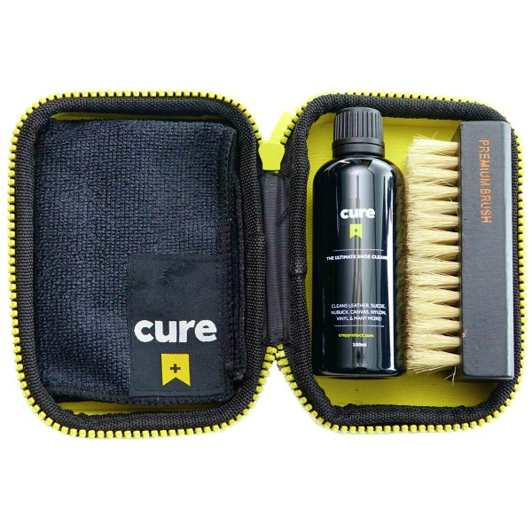 Cure Premium Shoe Cleaning Kit with Carrier Pouch
