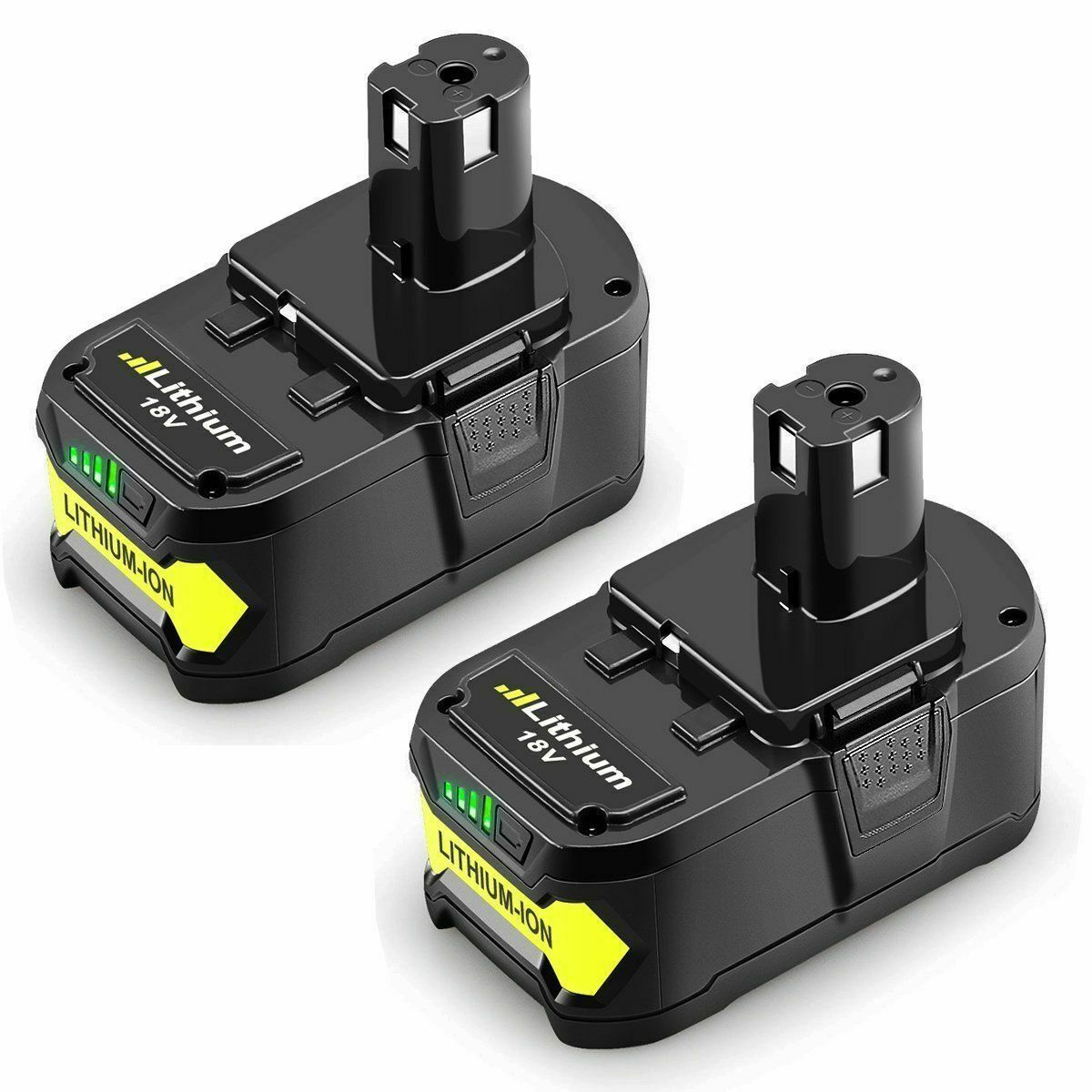 2Pcs 18V Lithium Battery For Ryobi 4000mAh/4.0AH (FREE SHIPPING - US ONLY)