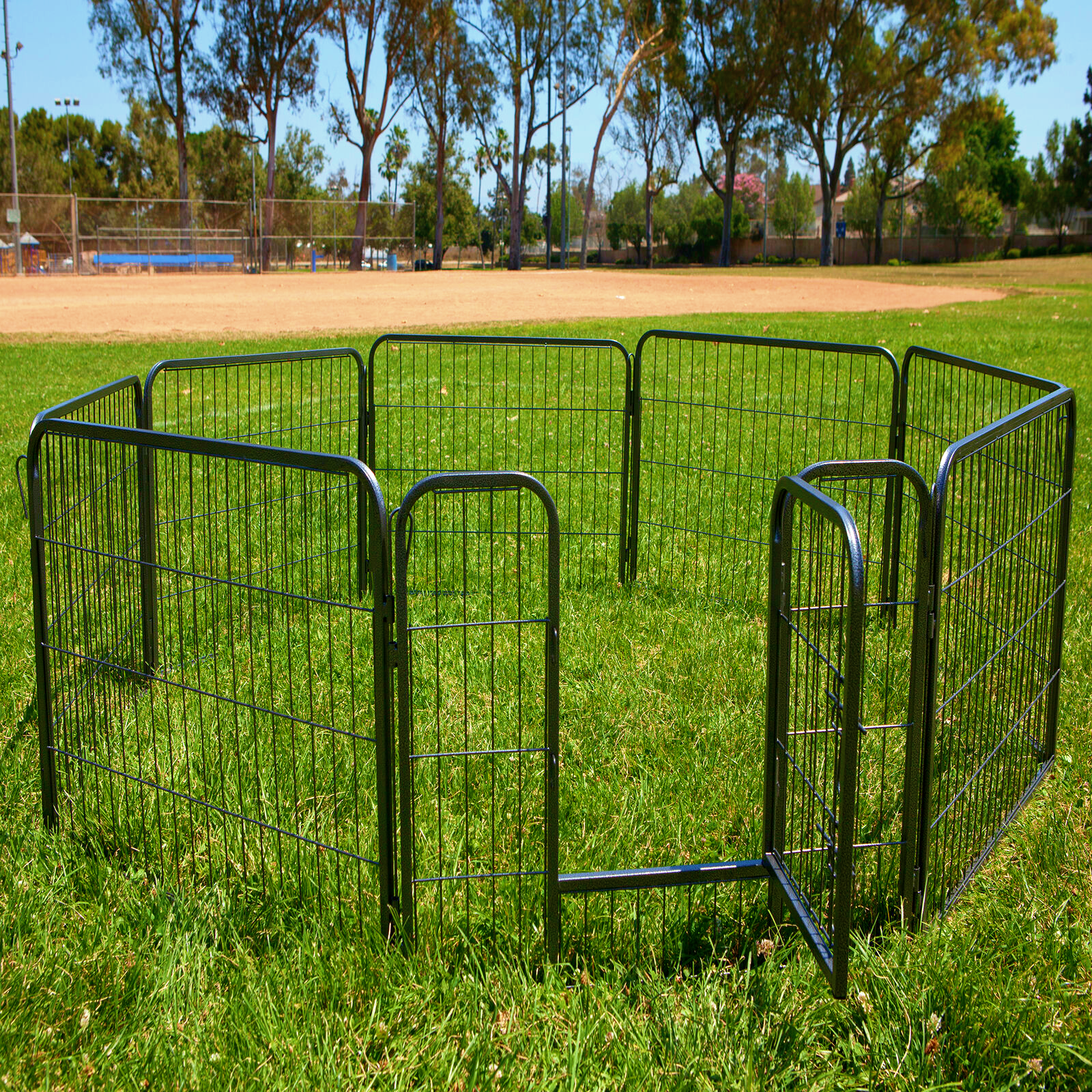 """Dog Pet Playpen Heavy Duty Metal Exercise Fence Hammigrid 8 Panel 24"""" (FREE SHIPPING - US ONLY)"""