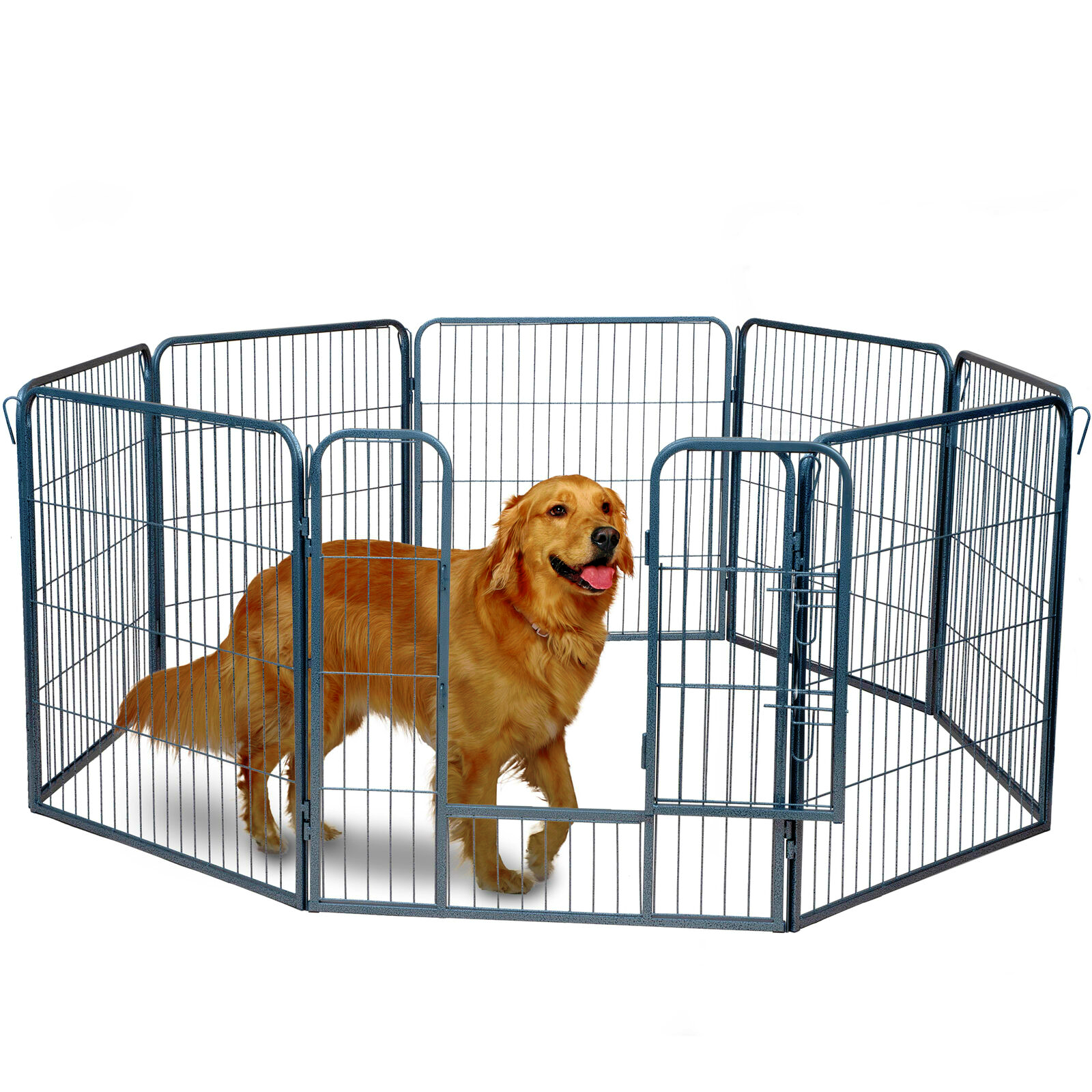 "Dog Pet Playpen Heavy Duty Metal Exercise Fence Folding Kennel 8 Panel 32"" (FREE SHIPPING - US ONLY)"