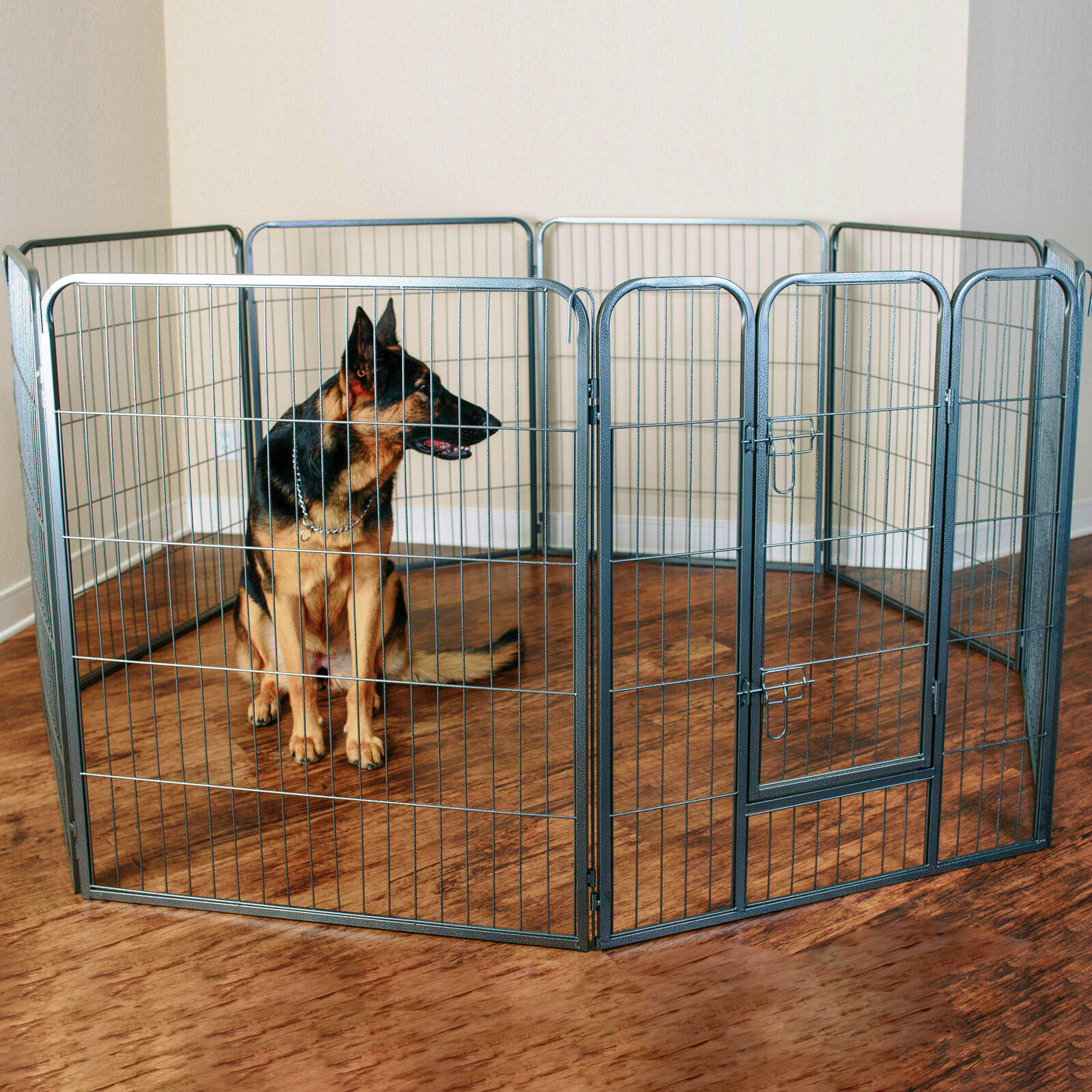 """Dog Pet Playpen Heavy Duty Metal Exercise Fence Folding Kennel 8 Panel 40"""" (FREE SHIPPING - US ONLY)"""
