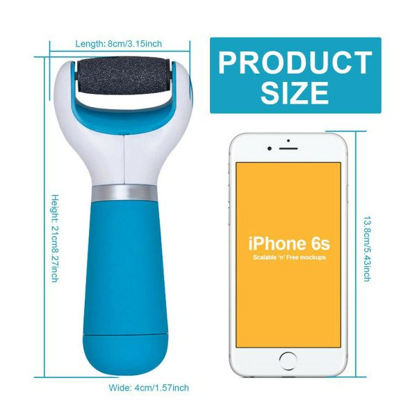 Electric Cordless Callus Remover with Rechargeable Battery