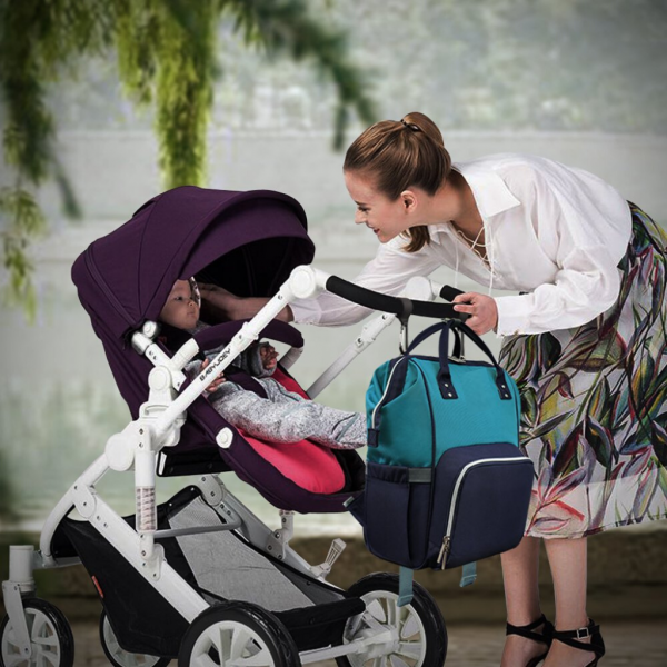 Stylish Diaper Bag with Wipe Case | Multi-function Organizer