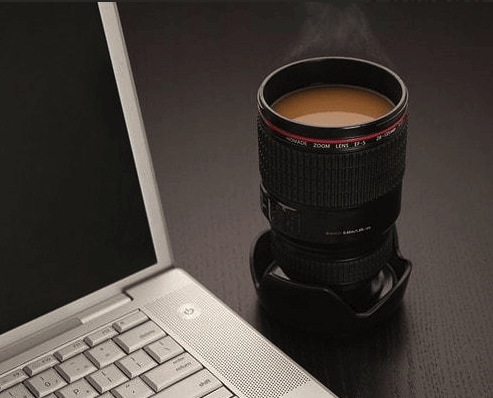 400ML CAMERA LENS COFFEE THERMOS 1