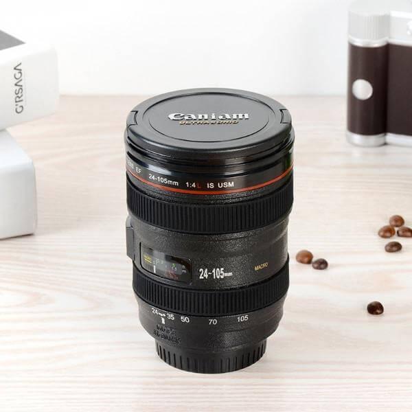 400ML CAMERA LENS COFFEE THERMOS 6